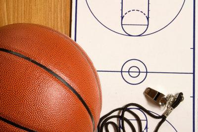 So finden Sie einen Basketballkorb.