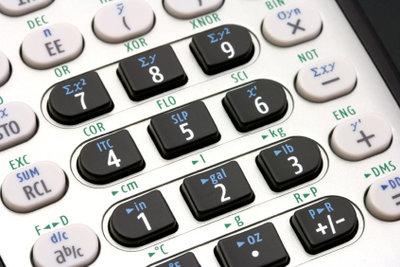 Manchmal hilft der Taschenrechner beim Berechnen.