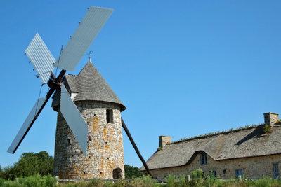 Ein Windrad bauen, ist nicht einfach.