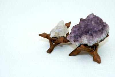 Der lilafarbene Amethyst eignet sich bestens.