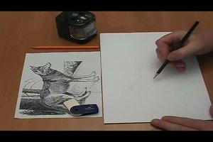 Einen Wolf leicht zeichnen - Anleitung