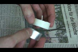 Teelichter basteln - Anleitung für Duft-Teelichter