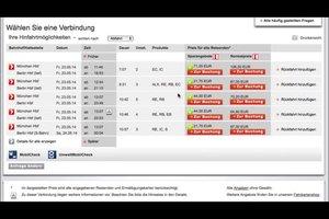 Preisauskunft Deutsche Bahn - so geht's