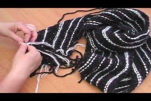 Strickanleitung für einen quergestrickten Schal