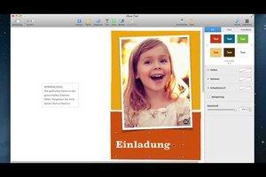 Programm zum Gestalten von Einladungen auf dem Mac nutzen - so geht's