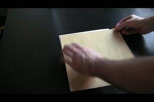 Briefe falten - einfache Falttechniken für Briefpapier