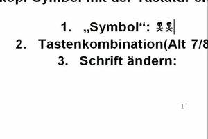 Totenkopf-Symbol mit der Tastatur machen - so geht's
