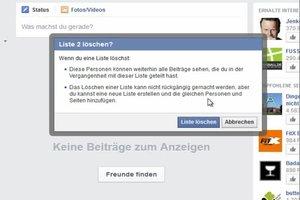 Facebook: Listen entfernen - so einfach geht's