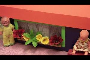 Haus aus Pappe basteln - Anleitung