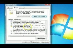 Windows 7 - versteckte Ordner sichtbar machen