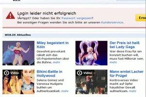 Web.de: Login-Probleme - das können Sie tun