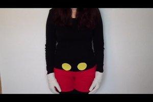 Micky-Maus-Kostüm basteln - Anleitung