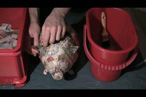 Glücksschwein selber basteln - Anleitung