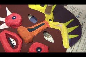 Afrikanische Masken basteln mit Kindern - Anleitung