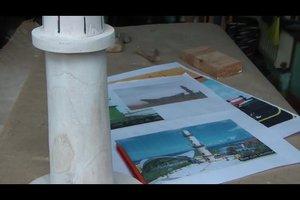 Leuchtturm selber bauen - Bastelanleitung für ein mittelgroßes Modell