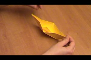 Papierboot basteln - Faltanleitung