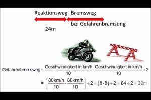 Anhalteweg vom Motorrad richtig berechnen