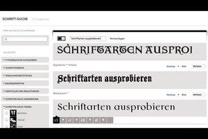 Schriftarten ausprobieren - online verschiedene Schriftzüge kreieren