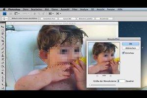 Gesicht im Foto verpixeln - so geht's im Photoshop CS4