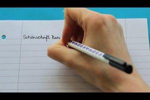 Schönschrift - Übungen für eine bessere Handschrift