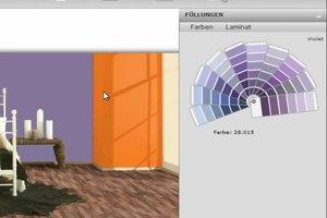 Dunkles Laminat - welche Wandfarbe wählen?