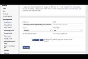 Facebook-Button auf Homepage einbauen - so geht's