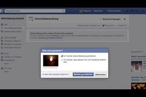 Bei Facebook-Fotos das Markieren verbieten - so geht's