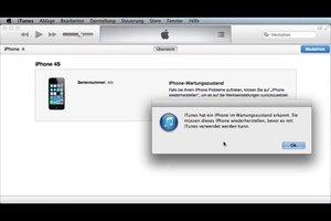 iPhone 4: Wiederherstellen nicht möglich - das können Sie tun