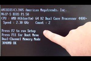 Windows 7: Bios starten funktioniert nicht - daran könnte es liegen