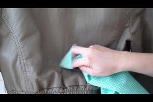 Lederjacke waschen - so werden Ledersachen wieder sauber