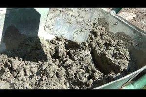 Betonmischung - so mischen Sie Zement