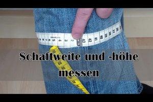 Schaftweite messen - so machen Sie es richtig