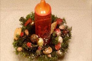 Weihnachtsgestecke selber basteln