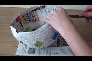 Laternen aus Pappmaché basteln - so geht's Schritt-für-Schritt