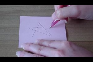 Einen Fünfstern zeichnen - Anleitung