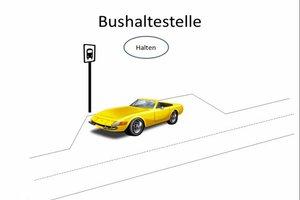 Halten an Bushaltestellen - so ist es erlaubt
