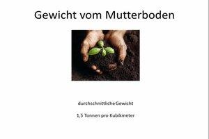 Spezifisches Gewicht vom Mutterboden berechnen - so geht es