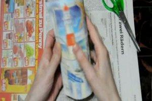 Bodenvase dekorieren - kreative Ideen