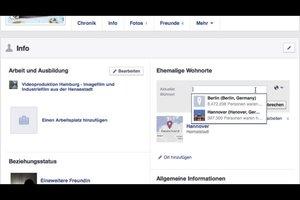 Bei Facebook den Wohnort ändern - so geht's nach dem Umzug