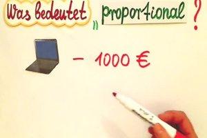 Was bedeutet proportional in Mathe?