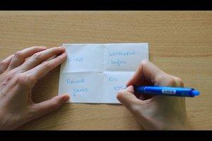 Drück-mich-Spiel - Anleitung für dieses Spiel aus Papier