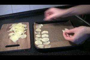 Kalorienarme Snacks - Rezept für fettfreie Chips