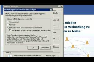 Passwörter speichern im Internet Explorer - so geht´s