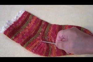 Socken häkeln für Anfänger