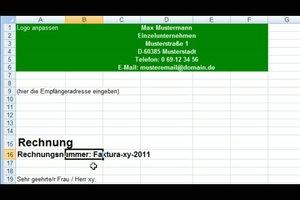 Rechnungsvorlagen im Excel erstellen - eine Anleitung