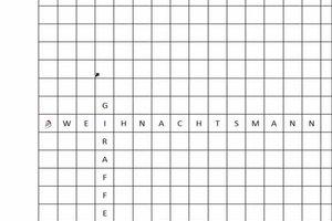 Kreuzworträtsel selber gestalten - so erstellen Sie ein Bilderkreuzworträtsel