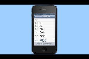 Kann man beim iPhone die Schrift ändern?