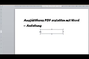 Ausfüllbares PDF erstellen mit Word - Anleitung