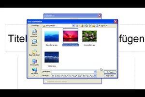 Powerpoint - Hintergrundbilder ändern