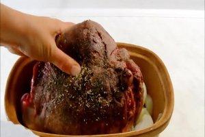 Hirschbraten zubereiten - ein herbstliches Rezept unter Alufolie